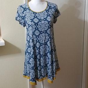 THML Blue, Yellow & White Dress